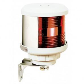 Runtomlysande lanterna rött sken (basmonterad), vitt lamphus (exkl. glödlampa)