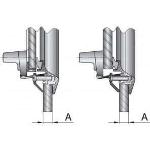Skruv i rostfritt stål, M5x25 mm för portholes (Pris/per 50 st.)
