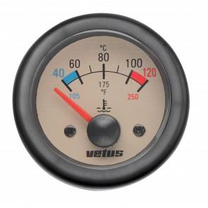 Motortemperaturmätare, 12 V (40-120°C), håltagnings D. 52 mm