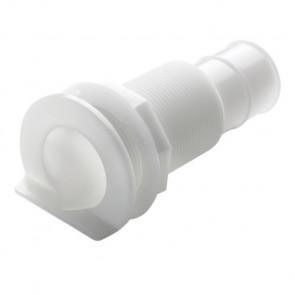 """Bordsgenomföring i plast med L-fläns,för slang med I.D. 28mm (11/8"""")"""