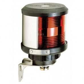 Tvåfärgad lanterna (SB och BB) (basmonterad), svart lamphus (exkl. glödlampa)