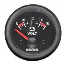 Voltmeter , 24 V (20-32V), håltagnings D. 52 mm
