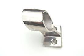Mittbeslag i rostfritt stål för grabbräcke med D. 25 mm