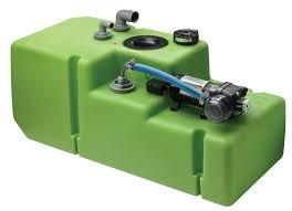 """Dricksvattentanksystem """"Premium"""" 61 liter inkl. 12/24 Volts pump samt anslutningar, komplett"""