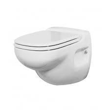 Väggmonterad toalett med 120 volts, 60 Hz pumpsystem