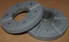 """Rattadapter för äldre rattpumpar med axel D. 1"""". stigning 3½:12, lämplig för rattar av typ KS38-KS55, KW samt KWL"""