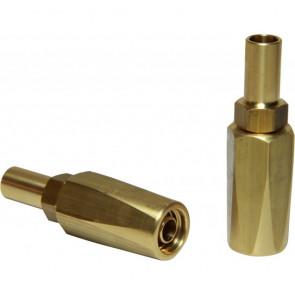 Anslutning för nylonslang Ø 8 x 12 m HHOSE8015-30-50-100, sats om 2 st raka nipplar i mässing