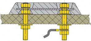 Monteringssats för anoder på glasfiberskrov (pris/st)