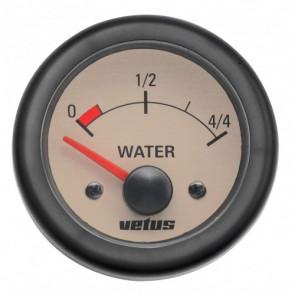 Instrument för vattentank, 12 V, håltagningsmått. D: 52 mm (exkl. givare)