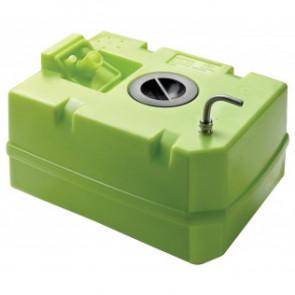 Vattentank i plast, 80 l, inkl. anslutningar och inspektionslock