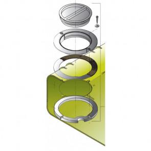 inspektionslock för dricksvattentankar, inkl. innerfläns och packning