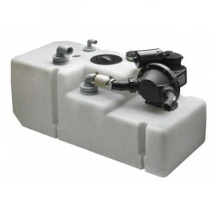 Septik/avloppstank system 120 l. 24 Volt, inkl. pump, givare och sugrör (exkl. vinklade anslutningar)