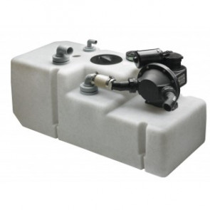 Septik/avloppstank system 42 l. 12 Volt, inkl. pump, givare och sugrör (exkl. vinklade anslutningar)