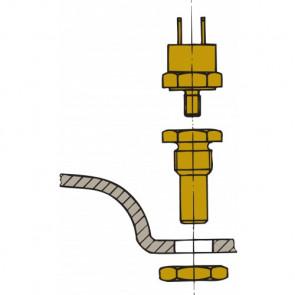 Givare för avgaslarm, för montering i Vetus vattenlås med förinstallerad anslutning.