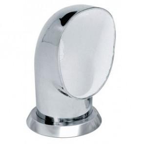 Däcksventilator typ Yogi i rostfritt stål 316, vit insida (inkl gängad ring och fäste på däck)
